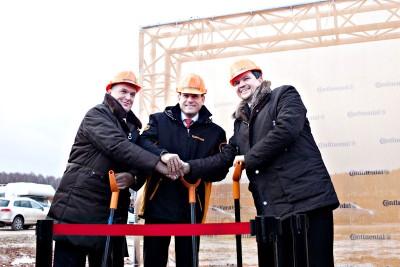 Die Grundsteinlegung zum neuen Reifenwerk im russischen Kaluga fand erst im November 2011 statt