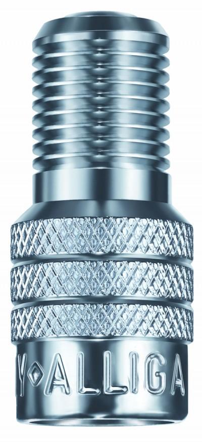 Luftdruck messen und anpassen, ohne die Ventilkappe abzunehmen, ist mit der Alligator-V2B-Kappe möglich