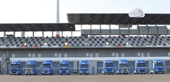 """Die erste Auflage des """"Bestof9.eu"""" genannten Lkw-Praxistests startete vor nunmehr fast zwei Jahren auf dem Lausitzring, eine zweite Runde soll bei der diesjährigen Nfz-IAA beginnen: Hier wie da ist Michelin Reifenpartner"""