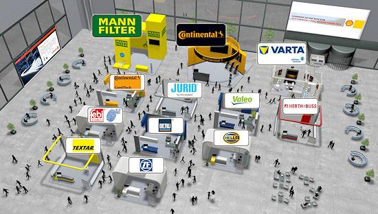 Viele namhafte Unternehmen zeigten bei der virtuellen Autoteilemesse der Select AG Flagge