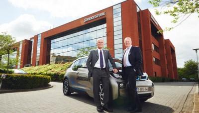 Am Sitz von Bridgestone Europe gibt es seit Neuestem eine E-Tankstelle