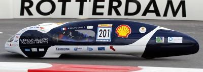 In der Kategorie der Brennstoffzellenfahrzeuge fuhr das Team H2A der Hogeschool Van Amsterdam mit sauberem Wasserstoffantrieb 428,5 Kilometer weit