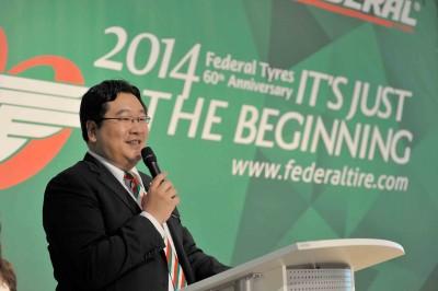 """CEO Jamie Ma konnte anlässlich des 60-jährigen Bestehens von Federal Tyres zahlreiche Gäste zu einem Bankett begrüßen und betonte, die bisherigen Jahre der Unternehmensgeschichte seien """"gerade erst der Anfang"""""""
