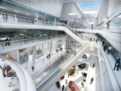 Der Technodome von Stararchitekt Sir Norman Foster soll über 96.000 m² Grundfläche für Büros und 90 verschiedene Labore bieten