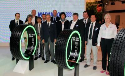 """Die Marangoni-Gruppe präsentierte sich in Essen mit nahezu allen Geschäftsbereichen und Unternehmen, so auch mit Retreading Systems – """"Wir sind zufrieden"""", bewertete CEO Massimo de Alessandri den jüngsten Geschäftsverlauf"""