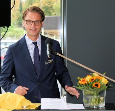 """Pneumobil-Geschäftsführer Christian Mühlhäuser freut sich darüber, künftig auch am neuen Driver-Center-Standort in Bonn einen """"Premiumservice"""" bieten zu können"""