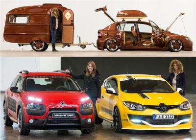 """Auch etliche Fahrzeughersteller nutzen die Essen Motor Show, um gerade ihre sportlichen Modelle zu präsentieren (unten); gleichzeitig steht Tuning bei Privatiers synonym für individuelles Design – davon gibt es unter anderem bei der """"tuningXperience"""" oder dem """"Hella-Show-&-Shine""""-Award einiges in Essen zu sehen (oben)"""