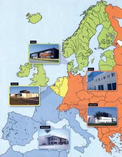Die demnächst fünf Genan-Recyclinganlagen in Europa entsorgen jeweils auch die Altreifen aus denen ihnen nahegelegenen Nachbarländern, dadurch erklären sich die drei Anlagen im zentral gelegenen Deutschland; immerhin 50 Prozent der in den deutschen Genan-Anlagen recycelten Menge stammt aus dem europäischen Ausland