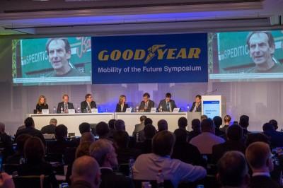 Rund 150 Teilnehmer diskutierten die Zukunft der Transportindustrie im Rahmen des Goodyear-Symposiums zur Zukunft der Mobilität
