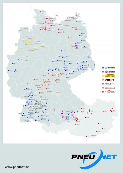 Pneunet ist jetzt in Deutschland und in Österreich an 254 Standorten präsent, an 233 davon kann ein professioneller Lkw-Reifenservice geboten werden