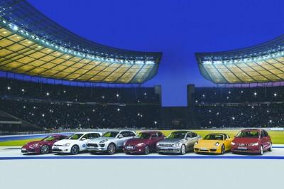 Die Siegerautos im Berliner Olympiastadion