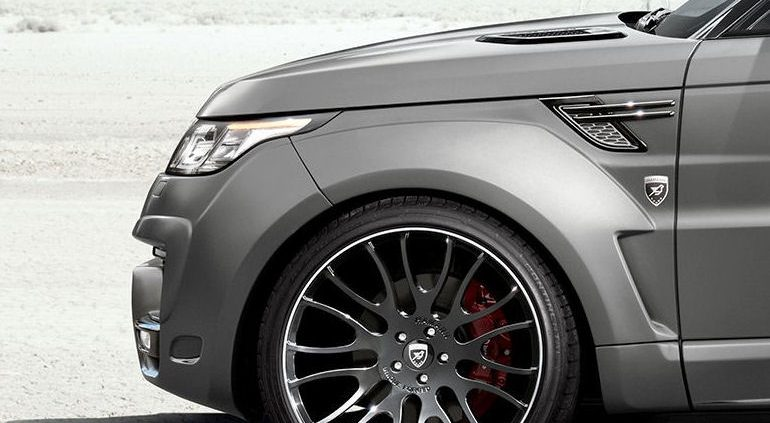 vorne 22 hinten 23 zoll bei hamanns range rover sport. Black Bedroom Furniture Sets. Home Design Ideas