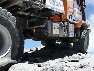 Felsiger Untergrund fordert die Reifen
