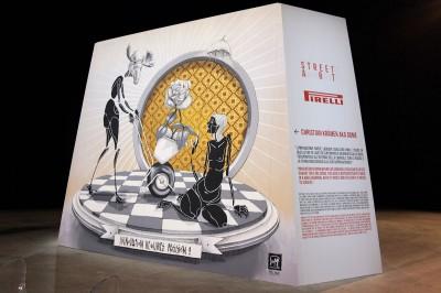 Pirelli will Reifen in seinem Geschäftsbericht 2014 auch als Kunst präsentieren, erste Eindrücke dazu gibt es derzeit im Mailänder Kulturzentrum HangarBicocca