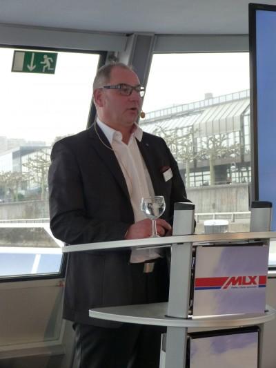 Konnte neue MLX-Mitglieder begrüßen und Jubilare auszeichnen: Rainer Baßler, Manager Business Development in der MLX-Systemzentrale