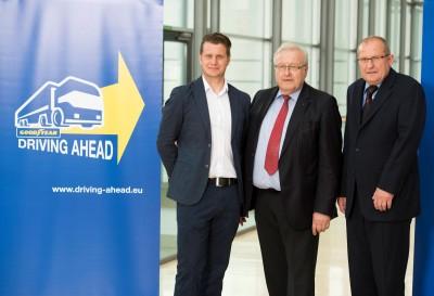 V. li. n. re.: Jochen Wattaul, Heinrich Grieshaber und Heribert Bucher