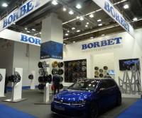 Reifen- und Räderbranche waren quantitativ nicht stark auf der IAA vertreten, Ausnahmen bestätigen die Regel: hier der Borbet-Ausstellungsstand
