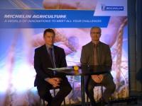 Auf der Michelin-Pressekonferenz: Emmanuel Ladent (li.) und Jean-Paul Gauthier