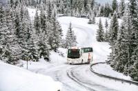 Mit Nischenpolitik lassen sich Billiganbieter wenigstens teilweise ausgrenzen: So mit einem Busreifen für den Winter im regionalen Verkehr