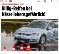 """Einige Medien haben die Ergebnisse des ACE-/ARBÖ-Sommerreifentests zu einer medialen Kampagne gegen """"Billig-Reifen"""" aufgebauscht"""