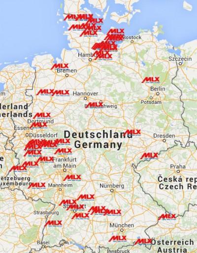 Aktuell gehören zum MLX-Netzwerk deutschlandweit rund 250 Partner mit insgesamt 270 Outlets