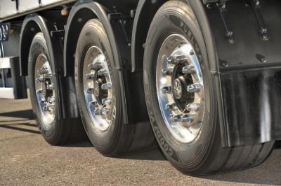 """Auf allen Achsen beim """"Efficiency Run 2015"""": Goodyear-Reifen der Linie Fuelmax"""