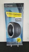 Die hinter der Reifen-Flatrate stehenden Unternehmen Saitow AG, Alzura und Zenises Europe bieten ihren Partnern umfassendes POS-Material an