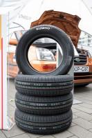 """Kumho Tyre beteiligte sich mit seinem Leichtlaufreifen Kumho KH27 Ecowing ES01 am Projekt """"Coop-Car – 3 for free"""", mit dem die Vorteile von Zweitaktmotoren aufgezeigt werden sollen"""