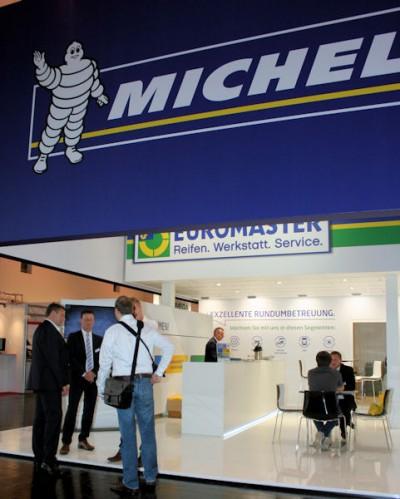 """Für die Michelin-Handelstochter Euromaster ist die Reifen-Messe """"eine reine Kontakt- und Informationsplattform"""""""