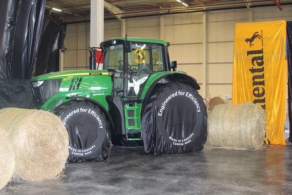 Fertige Produkte hat Continental noch nicht gezeigt, wohl aber schon, womit man sich zukünftig im Landwirtschaftsreifengeschäft profilieren möchte: mit dem Thema Effizienz