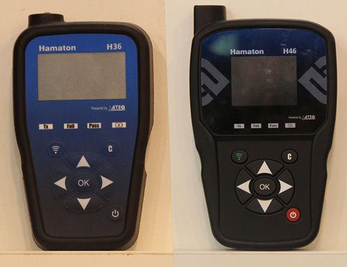 """Was RDKS-Diagnose- bzw. -Programmiergeräte betrifft, wird das von ATEQ für Hamaton produzierte """"H36"""" (links) als Einstiegslösung für kleine und mittlere Werkstätten empfohlen, und das """"H46"""" genannte Gerät soll sich dank zahlreicher Upgrades in ein ebenso leistungsfähiges wie ATEQs """"VT56"""" verwandeln lassen"""
