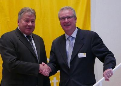 Die Väter der SVG Fusion in Baden: Arno Lauth (l.) und Peter Welling