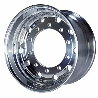 MWSD bietet Xlite- (Foto) und Xbrite-Schmiede-Lkw-Räder in verschiedenen Finishes an, hier in spiegelpoliert; immer gleich dabei: die Vorteile beim Gewicht, bei ihrer Stabilität und bei ihrem Aussehen