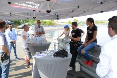 Mit dem Drift-Team von GT-Radial wurde nett geplaudert