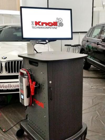 """Knoll Autoteile will mit dem neuen OE-Diagnoseinstrument – das """"Knoll PTT PassThru Tool"""" – Werkstattkunden eine eigenentwickelte Schnittstelle zwischen Fahrzeugherstellerportalen und Fahrzeug bieten"""