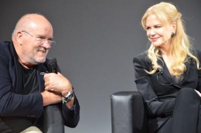 Nicole Kidman im Gespräch mit Peter Lindbergh bei der Präsentation
