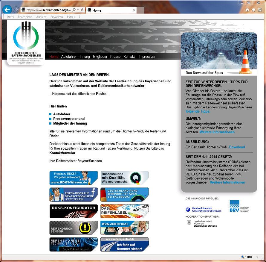 ... findet sich der neue Webauftritt der Landesinnung des bayerischen und sächsischen Vulkaniseur- und Reifenmechanikerhandwerks