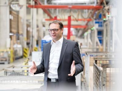 Andreas Koetz, Senior Vice President des Bereichs Fertigung, Materialwirtschaft und Qualität