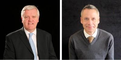 Als Integration Manager kümmert sich künftig Arthur Gregg (links) um die Zusammenarbeit von Bandvulc und Continental, während Matt Wilkinson als neuer Sales and Marketing Director der britischen Continental Tyre Group Verantwortung für Nutzfahrzeugreifen von seinem Vorgänger Gregg übernommen hat