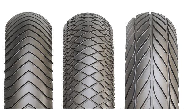 Ob die von Dixon entworfenen drei Profildesigns mehr sind als Konzepte bzw. ob sie jemals in dieser Form auf die Straße kommen werden, hat Pirelli nicht mitgeteilt