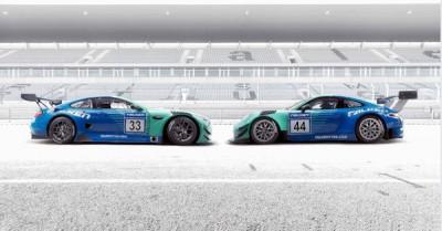 Der japanische Hersteller Sumitomo Rubber Industries setzt bei der Vermarktung seiner Marke Falken in Europa seit 2000 ganz zentral auch auf Motorsport; in der laufenden Langstreckensaison setzt Falken erstmals und als erster Hersteller überhaupt gleichzeitig GT-Fahrzeuge von Porsche und von BMW (links) auf der Langstrecke ein