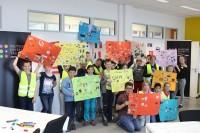 Unterhaltsam und bunt: Kinder von Pirelli-Mitarbeitern in Breuberg zeichneten und malten für eine Ausstellung