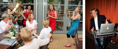 Wer viel arbeitet, darf auf feiern! – Der musikalische Rahmen des diesjährigen RTC-Sommerfestes passte zu den guten Ergebnissen, die die Kooperation im vergangenen Jahr erzielen konnte