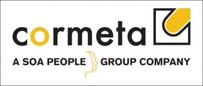 Der neue Mehrheitseigentümer SOA People findet sich auch im neuen Logo der Cormeta AG wieder