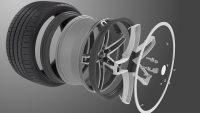"""Abgesehen von den beiden Gummiringen soll das """"Flexible Wheel"""" außerdem noch durch eine schmalere Aluminiumfelge als üblich charakterisiert sowie durch einen optionalen Einsatz zur optischen Aufwertung"""