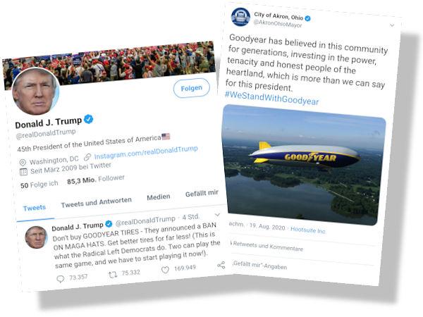 ROUNDUP: Trump ruft zu Boykott des Reifenherstellers Goodyear auf