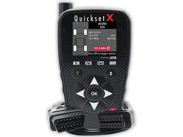 """Als Weiterentwicklung von ATEQs bisherigem """"Quickset""""-Modell ist """"Quickset X"""" ein Tool, um Fahrzeugsensoren zu scannen und das RDKS-System zurückzusetzen beim Wechsel beispielsweise von Winter- zurück auf Sommerräder (Bild: ATEQ)"""