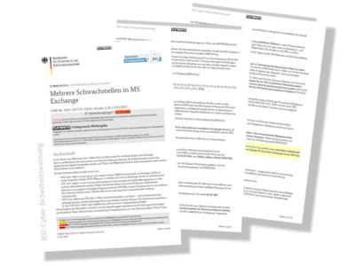 Das BSI warnt explizit vor Angriffen auf Exchange-Server, durch die Hacker Daten abgreifen könnten wie etwa rund um die fürs neue Reifenlabeling eine Rolle spielende European Product Registry for Energy Labeling (Bild: BSI)