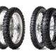 """Der Dunlop-Trainingsreifen """"D952"""" (links) hat in den vier Größen 80/100-21 51M (Vorderreifen), 110/90-18 61M, 120/90-18 65M und 110/90-19 62M (alles Hinterreifen) eine ECE-R75-Zertifizierung erhalten, während der """"D908 RR"""" in der Vorderreifengröße 90/90-21 54S sowie in den beiden Hinterreifengrößen 140/80-18 70R und 150/70B18 70S ab Produktionsmonat April eine M+S-Kennung aufweist (Bild: Dunlop)"""