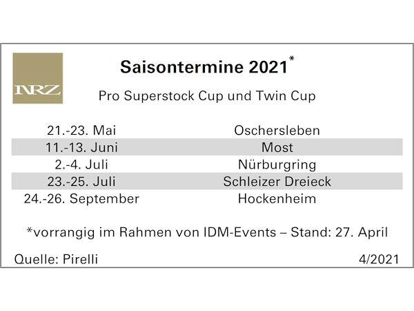 IDM: Pro Superstock und Twin Cup ebenfalls auf Pirelli-Reifen